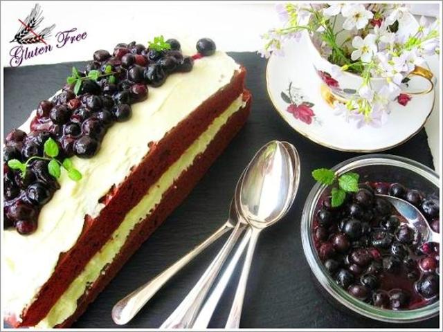 Roter Samt Kuchen Mit Heidelbeerkompott Brotbackforum Die