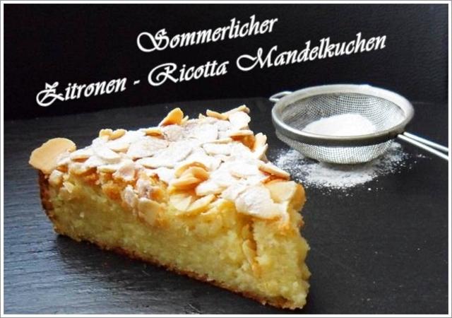 Sommerlicher Zitronen Ricotta Mandelkuchen Brotbackforum Die